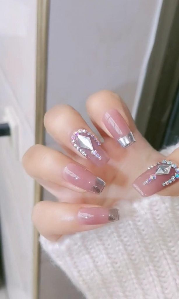 Rhinestone-Nail-Art-Ideas-1 2020 Nail Trends to Inspire Your Next Manicure #1 -  DIY Nails Compilation