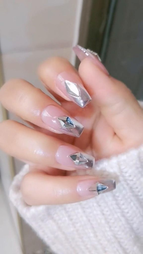 Rhinestone-Nail-Art-Ideas-6 2020 Nail Trends to Inspire Your Next Manicure #1 -  DIY Nails Compilation