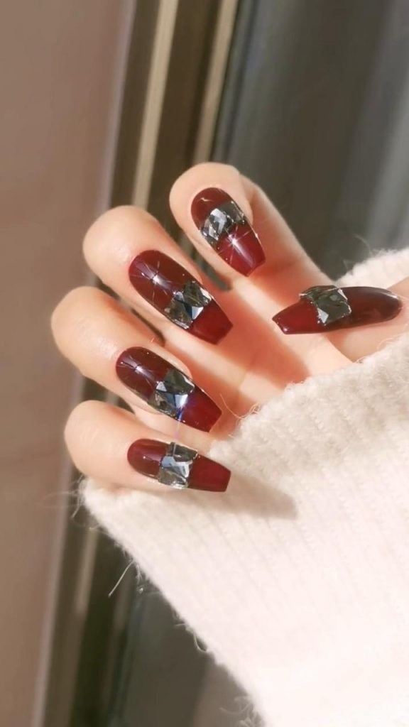 Rhinestone-Nail-Art-Ideas-7 2020 Nail Trends to Inspire Your Next Manicure #1 -  DIY Nails Compilation