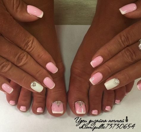 wedding-ideas-prom-ideas-1 Wedding Nails French Rhinestones Gems They Are Totally Popular Right Now