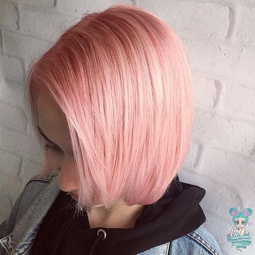 Pastel-Pink-Hair-Color Trendy Short Haircuts That You'll Love This Season
