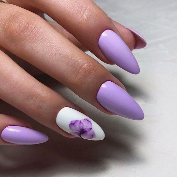 accent-nails-easy-ways-mani-sweet-lavender 2020 Fantastic Nail Design Ideas with Simple Accents