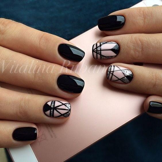 23-abstract-nail-art-ideas Cool Abstract Nail Art Ideas