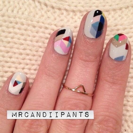 30-abstract-nail-art-ideas Cool Abstract Nail Art Ideas