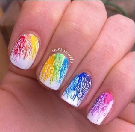 49-abstract-nail-art-ideas Cool Abstract Nail Art Ideas
