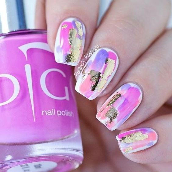 Pretty-paint-splattered-paint-splatter-design-2 Cool Abstract Nail Art Ideas