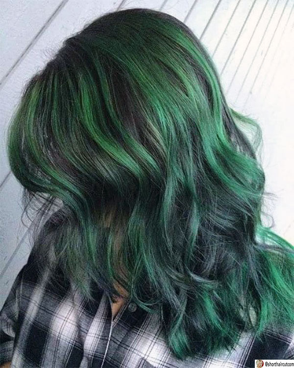 short-and-green-hairstyles-10-1 20 Short and Green Hairstyles You Will Want to Copy