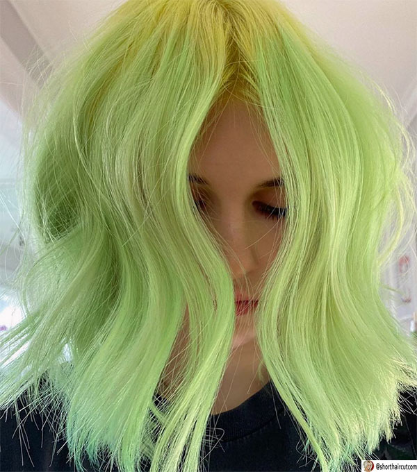short-and-green-hairstyles-2-1 20 Short and Green Hairstyles You Will Want to Copy