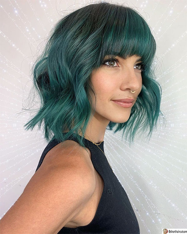short-and-green-hairstyles-3-1 20 Short and Green Hairstyles You Will Want to Copy