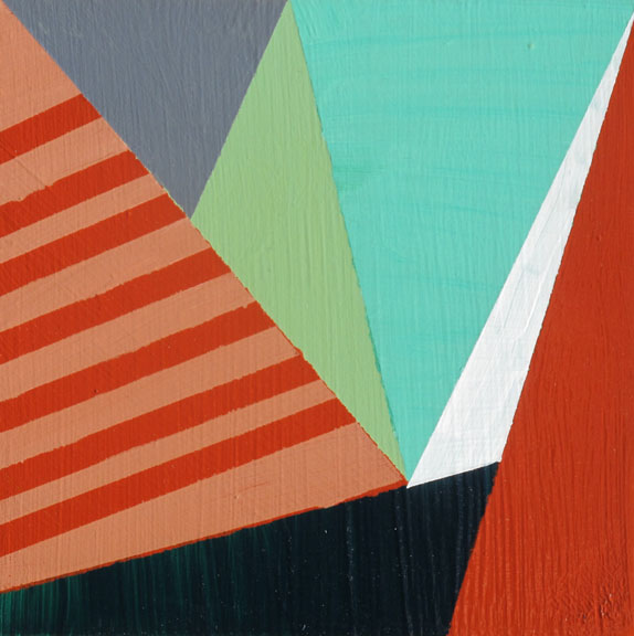 """""""incline"""" acrylic on board, 5 x 5 inches SOLD"""