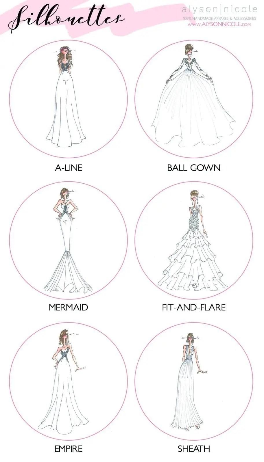 Wedding Dress Silhouette Glossary