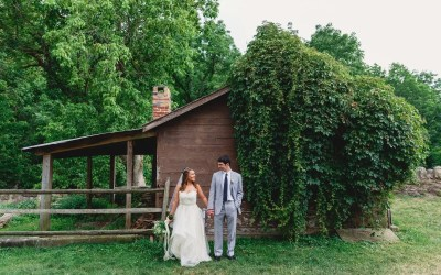 "From Elementary School to ""I Do""- A Beautiful Outdoor Wedding"