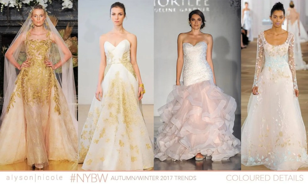 new york bridal week- COLOURED DETAILS