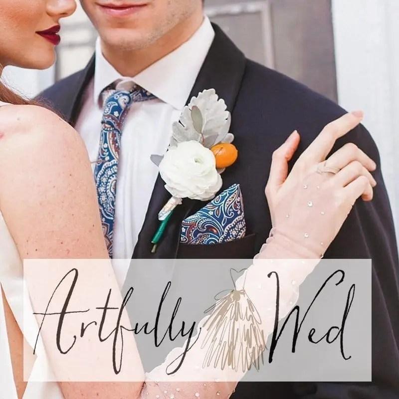 Artfully Wed- MODERN WINTER WEDDING INSPIRATION WITH A CITRUS TWIST