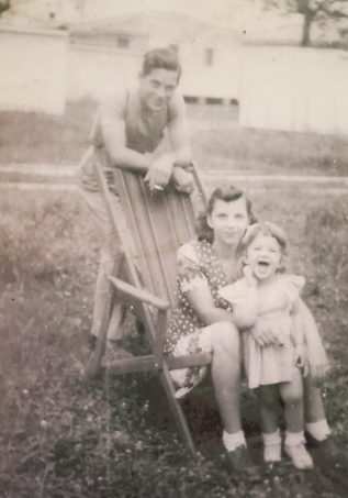 My mother and her parents in the 1940s.