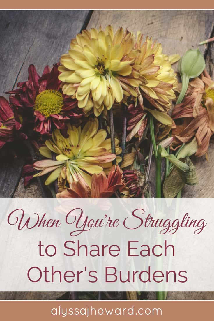 When You're Struggling to Share Each Other's Burdens | alyssajhoward.com