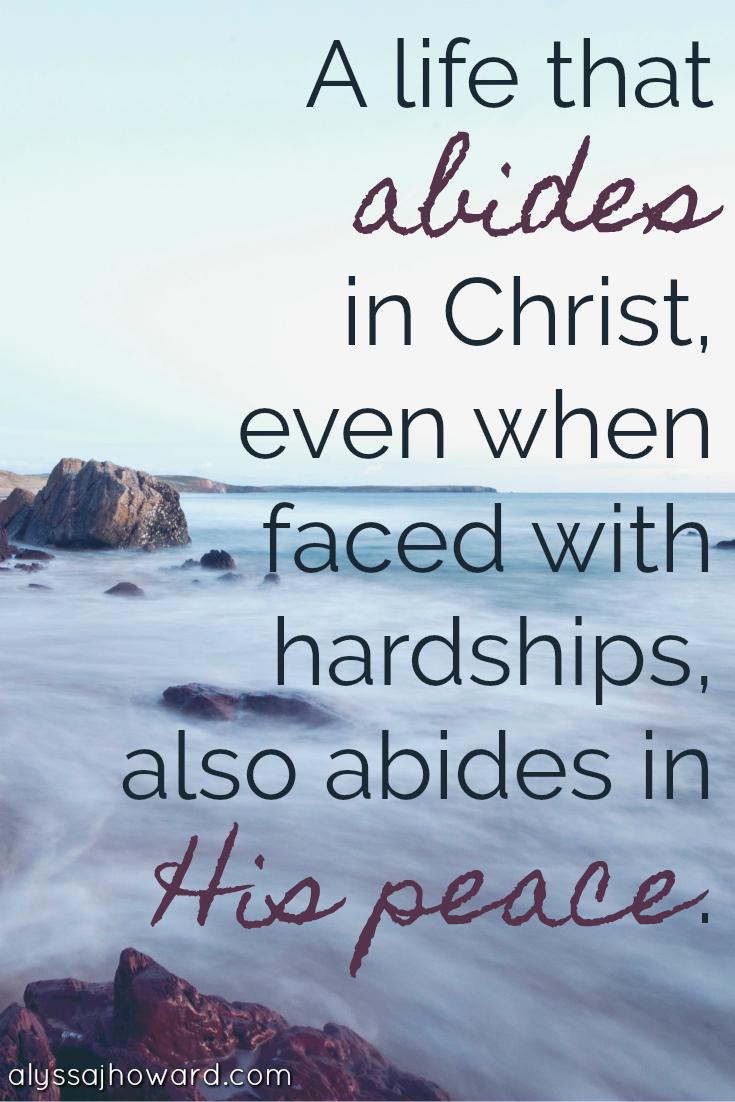 Do You Desire to Have Peace Beyond Understanding? | alyssajhoward.com