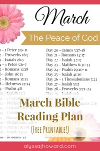 March Bible Reading Plan | alyssajhoward.com