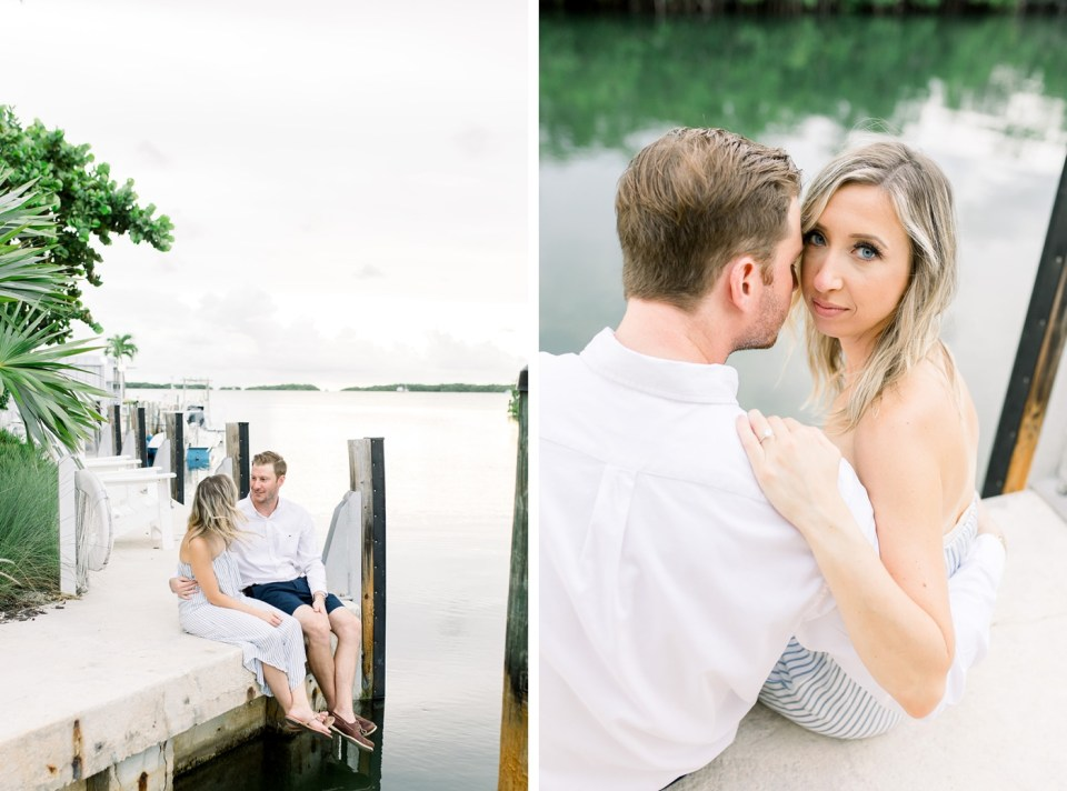 Outdoor engagement session in Key West