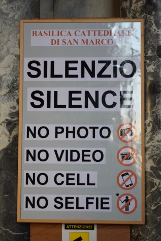 This is what the world has come to. Specifically, no selfies...