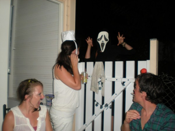 Halloween party in Martinique, teaching assistants