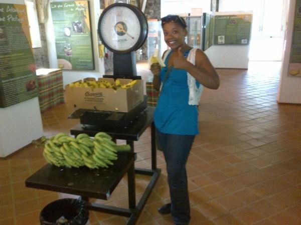 Free bananas at the banana museum, musee de la banane, bananes gratuites