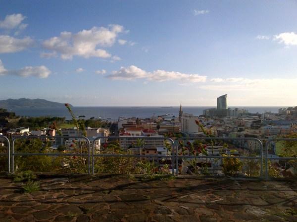 La vue sur Fort de France, view over the capital of Martinique