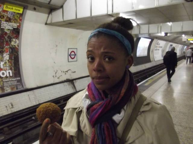 scotch egg, london tube