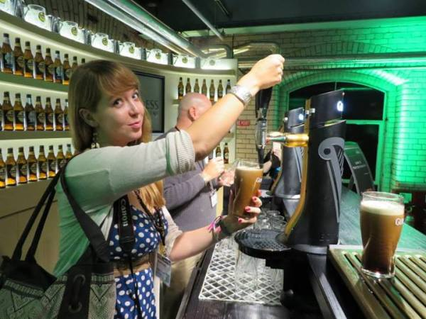 Pouring a pint of Guinness