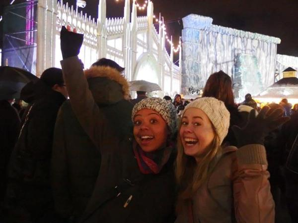 Alyssa and Alex at Winter Wonderland in Hyde Park, London