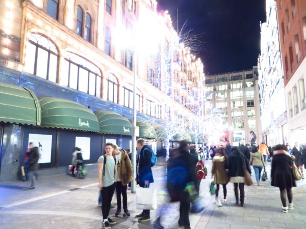 Harrod's Christmas shopping, London
