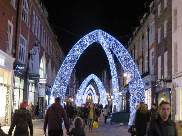 Bond Street Christmas lights, London, bicycle tour, Christmas lights bicycle tour in London