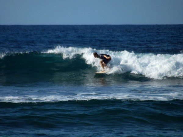 Surfing in Martinique