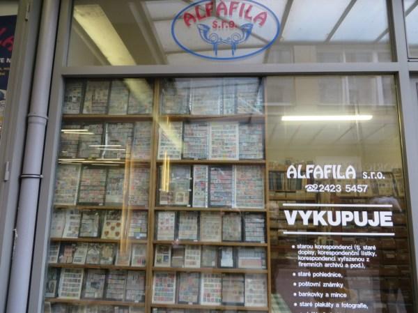 Alfafila, Prague souvenir shop