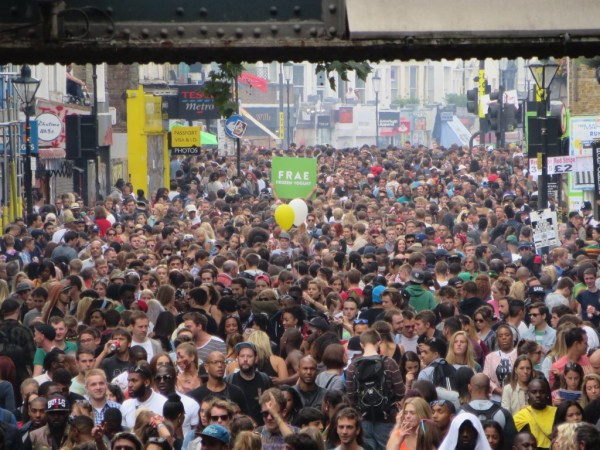 Horde of people, Notting Hill Carnival 2014
