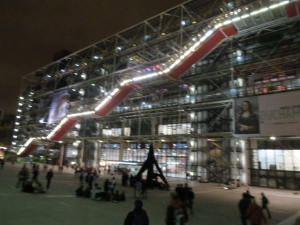 Centre Georges Pompidou by night, Paris