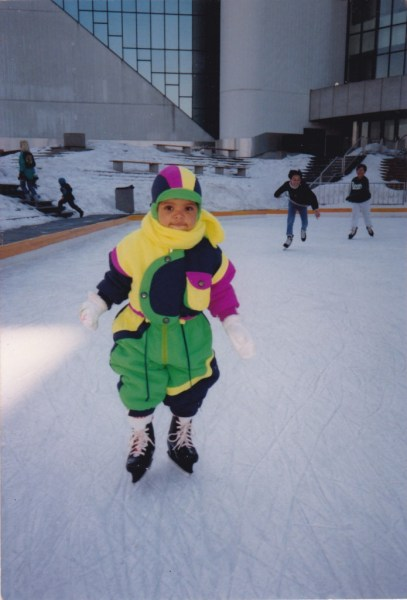 Little kid ice skating, Scarborough Civic Centre Ice skating