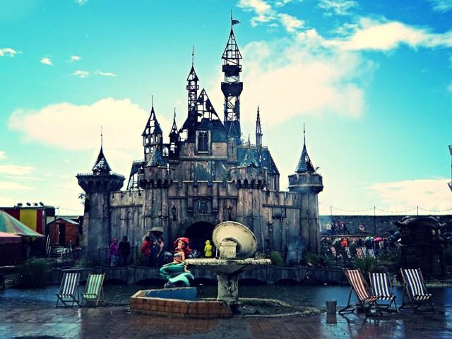 cinderella's castle, weston super mare, banksy, dismaland