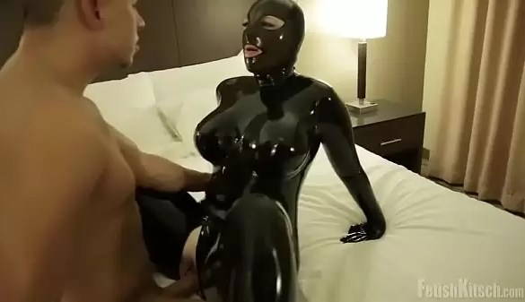 LATEX CATSUIT SEX IN HOTEL ROOM