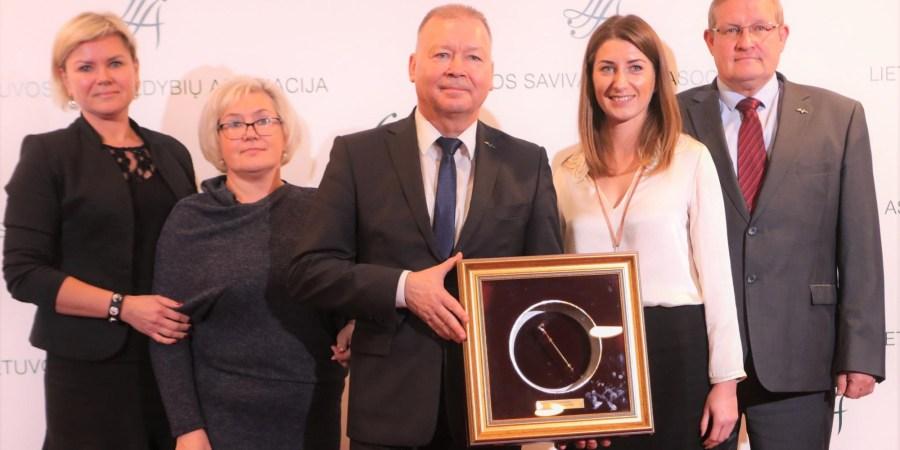"""""""Auksinės krivūlės"""" apdovanojimas Alytaus miesto savivaldybei įteiktas už viešųjų erdvių mieste formavimą, įtraukiant vietos bendruomenes"""