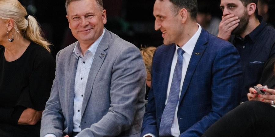 Alytaus miesto ir rajono merai A. Vrubliauskas ir N. Cesiulis / D.Aleksyno nuotr.