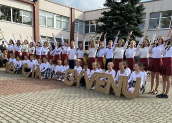 Šventiškai nusiteikę Butrimonių gimnazijos mokiniai