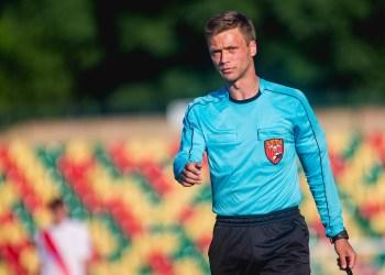 Futbolo teisėjas iš Veisiejų K. Bartuškevičius. Elvio Žaldario nuotr.