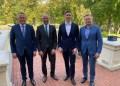 Alytaus rajono meras A. Vrubliauskas su kitų savivaldybių vadovais