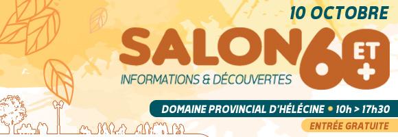 10 octobre : Salon 60+ à Hélécine
