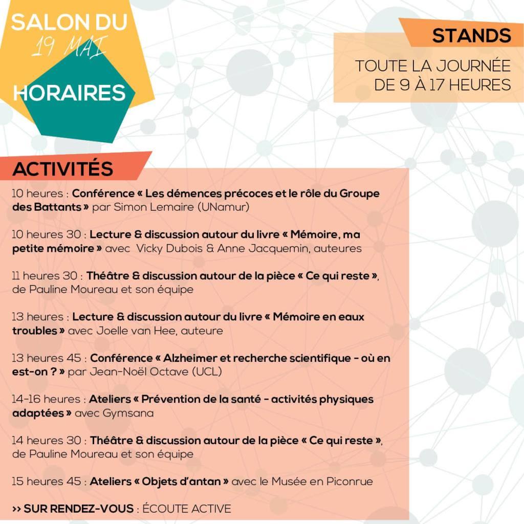 Premier Salon Alzheimer : Programme part2
