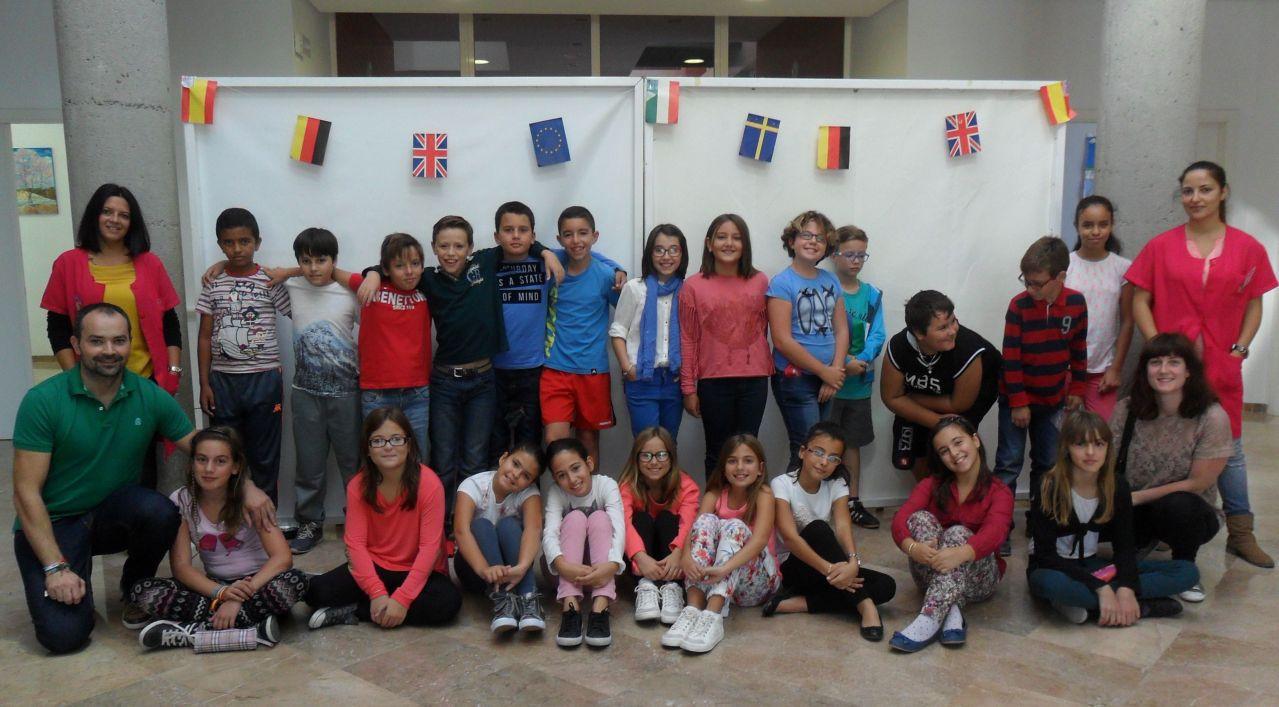 Visita de Escolares al centro 2014, grupo