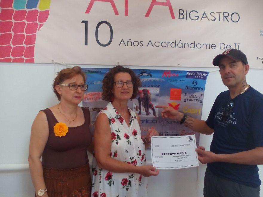 Donativo Asociación Alzheimer Bigastro