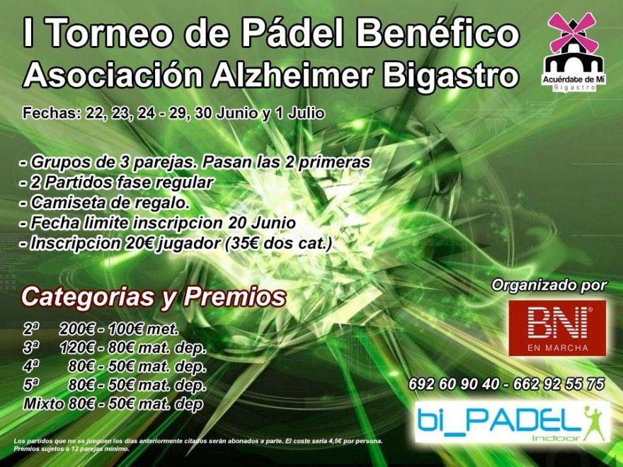 I TORNEO DE PÁDEL A BENEFICIO DE LA ASOCIACIÓN DE ALZHEIMER DE BIAGSTRO