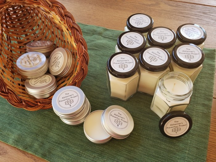 Tins & Candles for AromaXercises